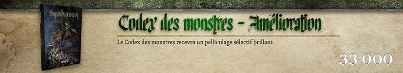 Pelliculage sélectif du Codex des monstres