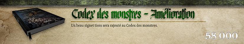 Amélioration : Codex des monstres - Signet