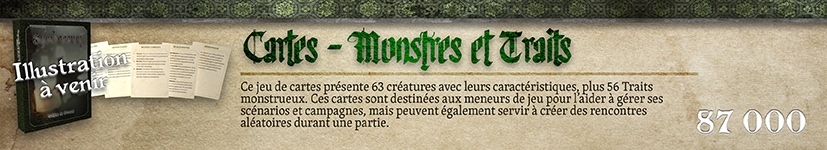 Cartes Monstres et Traits