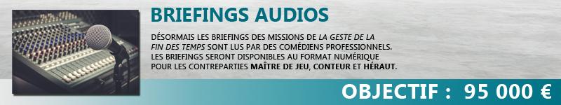 Briefings audios