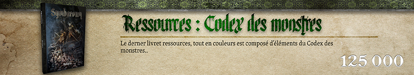 Ressources : Codex des monstres