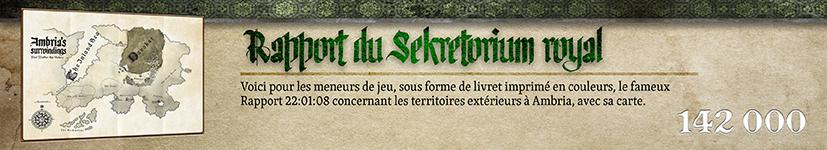 Rapport du Sekretorium royal