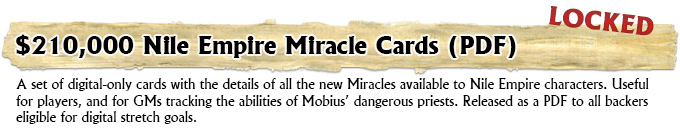 Nile Empire Miracle Cards