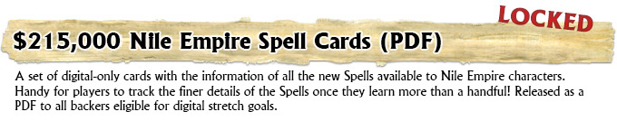 Nile Empire Spell Cards