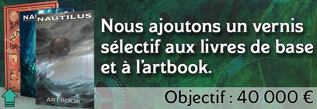 palier 18 : Nous ajoutons un vernis sélectif aux livres de base et à l'artbook.