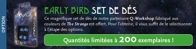 Early Bird : Set de dés The Strange