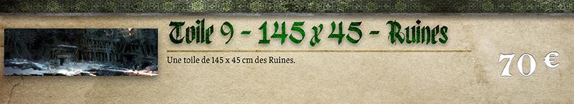 Toile 9 - Ruines 145 x 45