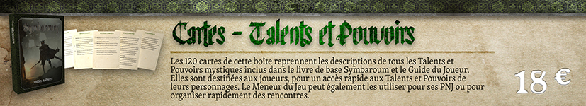 Cartes Talents et Pouvoirs