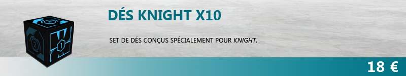 Set de 10 dés Knight