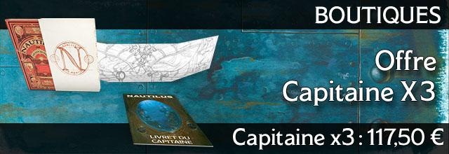 Offre boutique 2 : 3 X Capitaine (Livre de base + Fourreau + Ecran + Paliers)