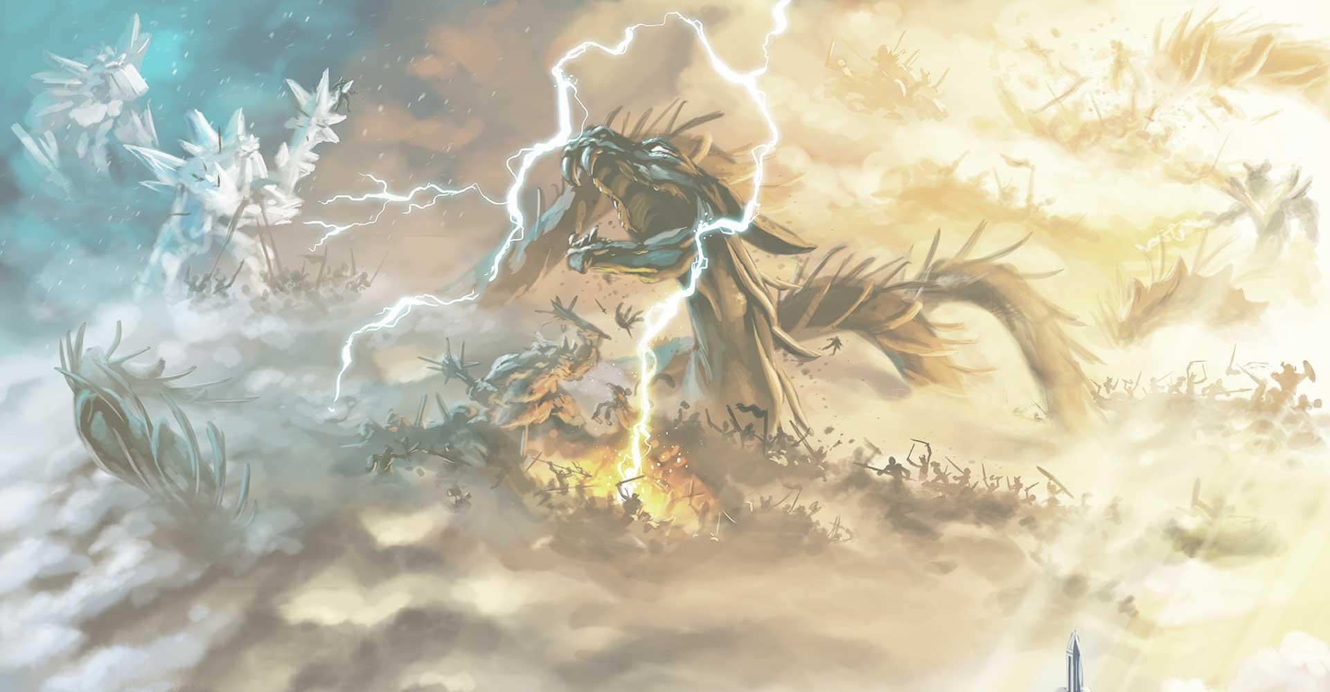 background Champions de Midgard - Extensions Sombres Montagnes / Valhalla