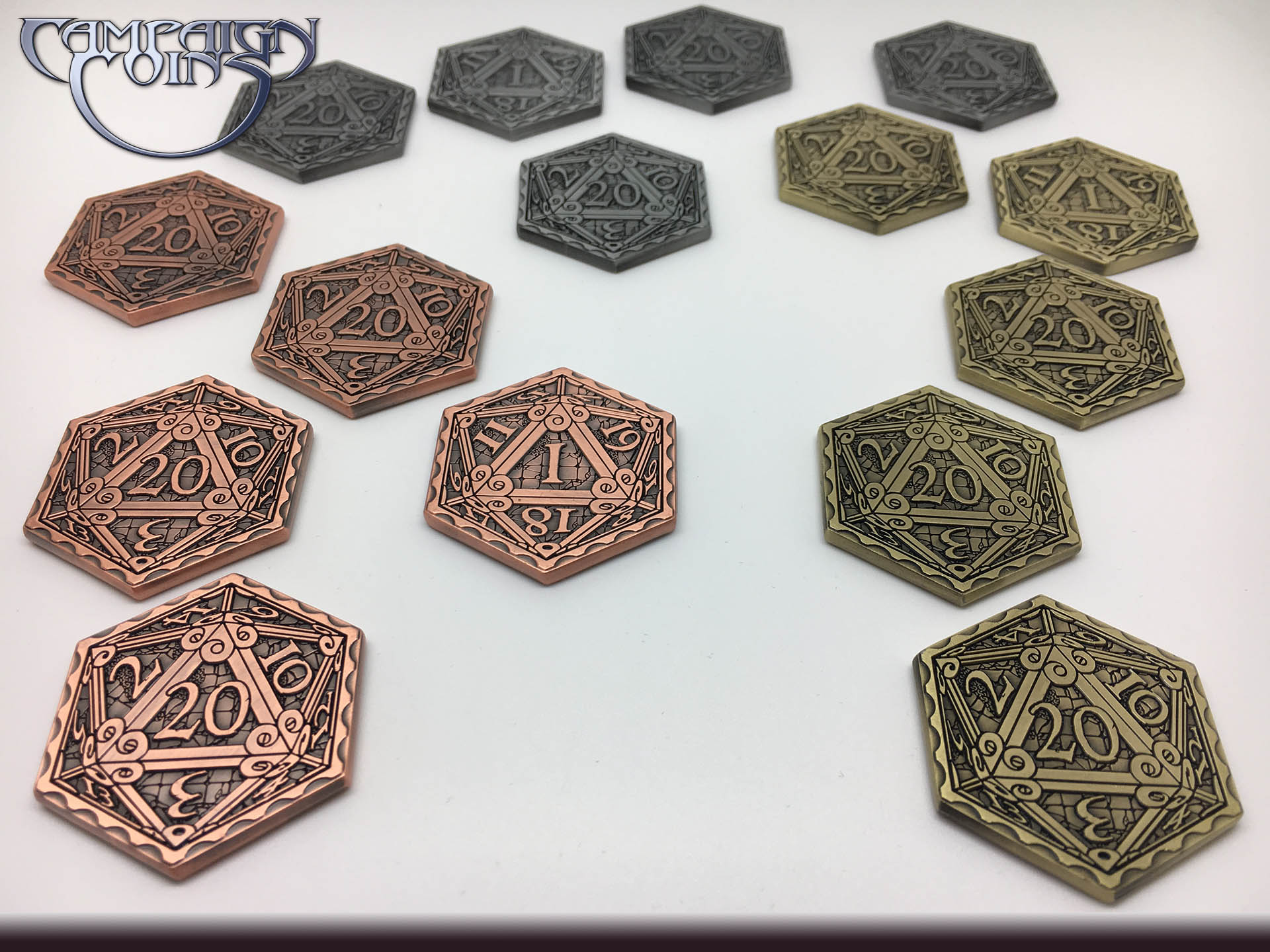background Epic D20 Coins
