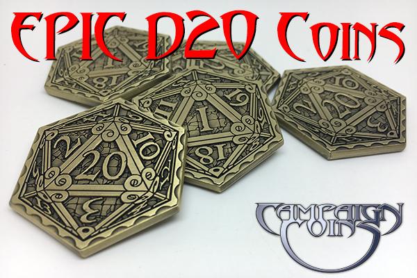 Epic D20 Coins