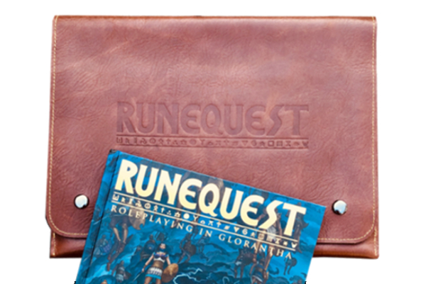 Official RuneQuest Leather Document Wallet