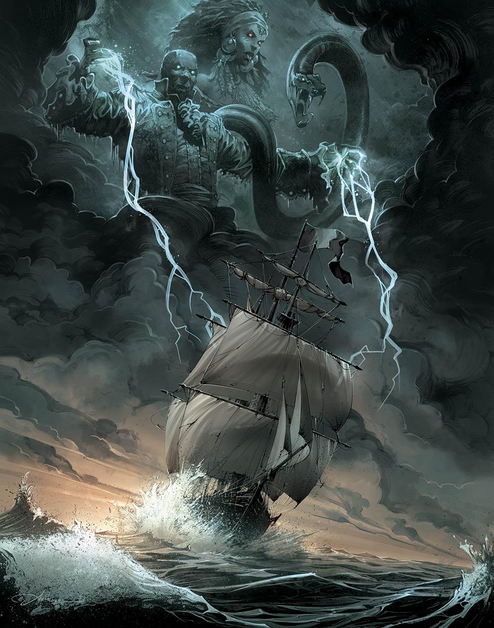Esprits loas et pirates en mer dans Capitaine Vaudou
