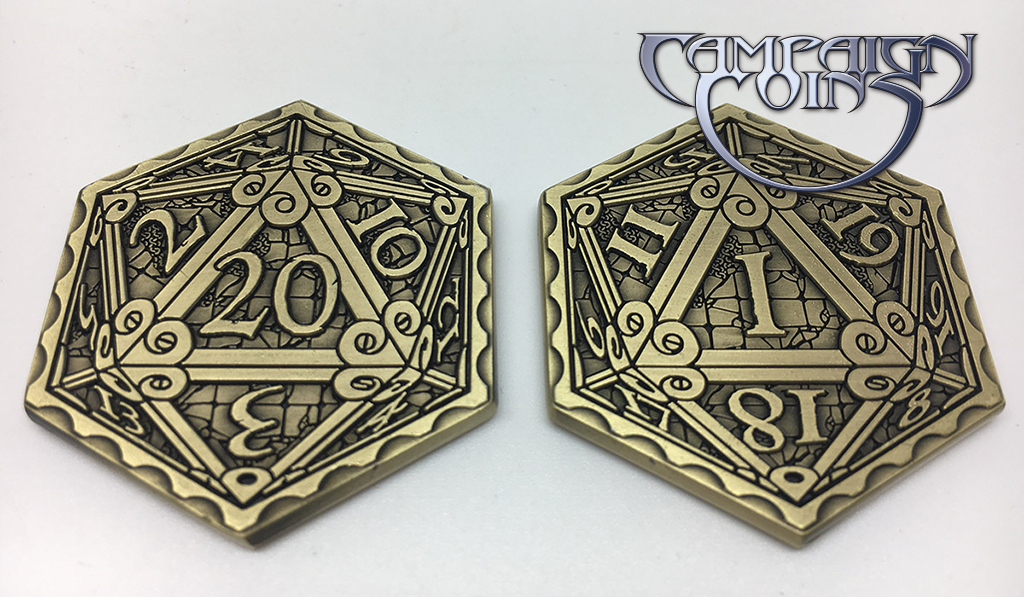 Epic D20 Coins (Campaign Coins) • Game On Table Top