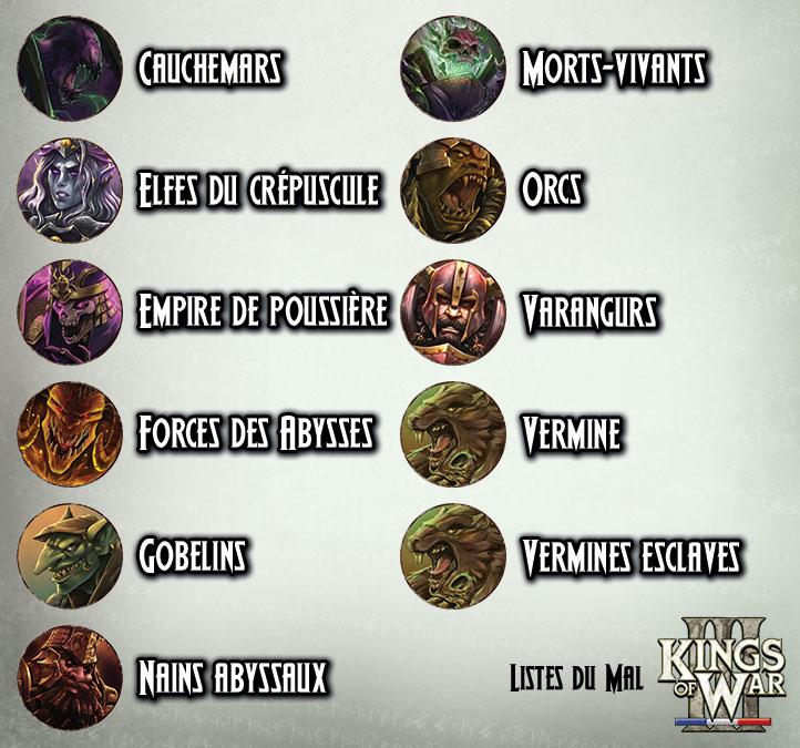 KoW v3 - Armees du Mal