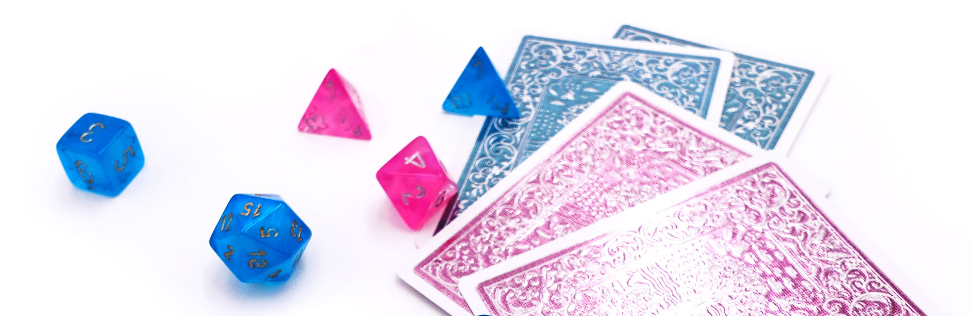 background dices and cards